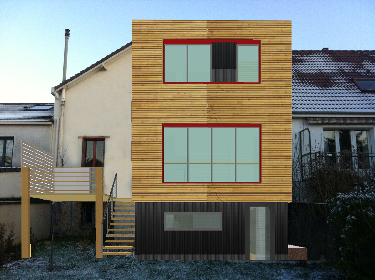 Agrandissement de maison avec toit plat devis pour travaux for Extension maison herault
